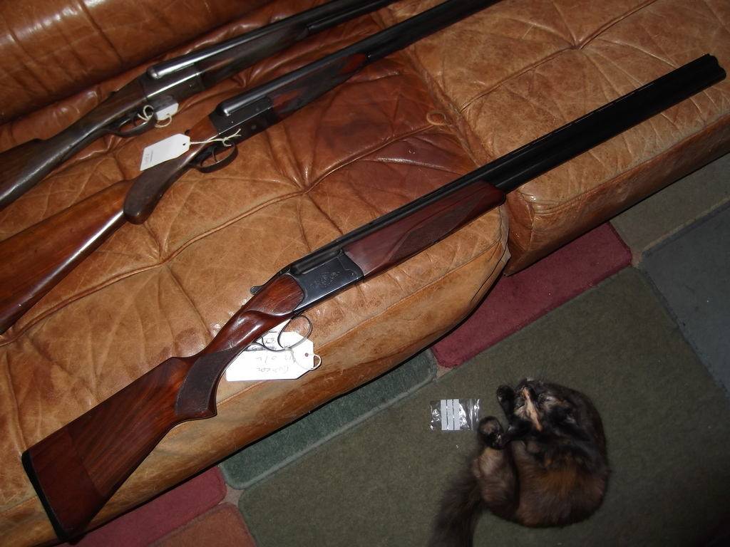 Baikal, 27 E single trigger ejector, 12 gauge, Over and