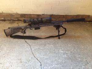 Howa 1500 Heavy Barrell/thumb hole laminate  243 - Guns for Sale