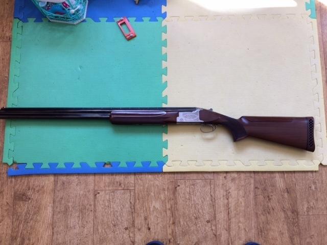 Miroku, MK38, 12 gauge, Over and Under, Ambidextrous, Used
